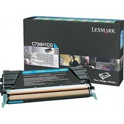 Lexmark Toner Optra C73x X73x Cyan 10K C736H1CG