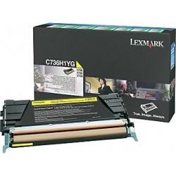 Lexmark Toner Optra C73x X73x Yellow 10K C736H1YG
