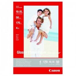 Canon Photo paper glossy, foto papier, połysk, biały, 10x15cm, 4x6, 210 g m2, 10 szt., GP501, atrament