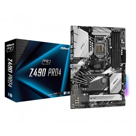 ASRock Płyta główna Z490 Pro4 s1200 4DDR4 HDMI|DVI|DSUB M.2 ATX