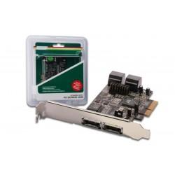 Digitus Karta rozszerzeń|Kontroler SATA III PCI Express, 4xSATA 2xeSATA, Chipset 88SE9230