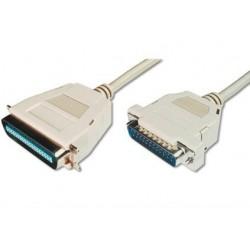 Digitus Kabel połączeniowy LPT Typ DSUB25|Centronics (36pin) M|M szary 1,8m