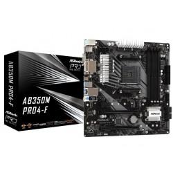 ASRock Płyta główna AB350M Pro4F AM4 4DDR4 DVI|HDMI|VGA M.2 mATX