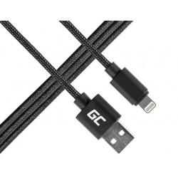 Green Cell Kabel Lightning  USB 1m, nylonowy