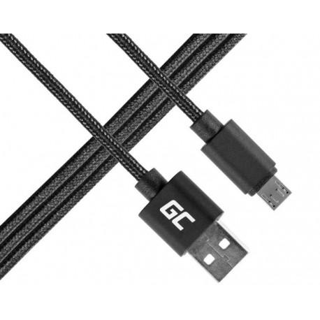 Green Cell Kabel Micro USB  USB 1m, nylonowy