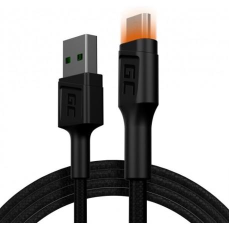 Green Cell Kabel Ray USBMicro USB 120cm, podświetlenie LED