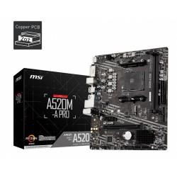 MSI Płyta główna A520MA PRO AM4 2DDR4 DVI|HDMI USB 3.2 mATX