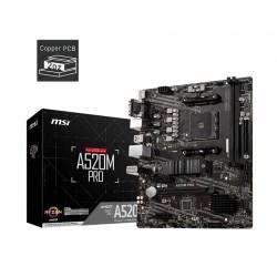 MSI Płyta główna A520M PRO AM4 2DDR4 DP|VGA|HDMI USB 3.2 mATX