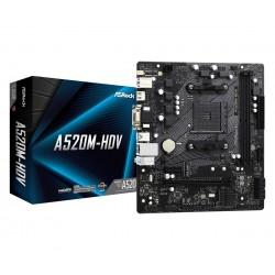 ASRock Płyta główna A520MHDV AM4 2DDR4 HDMI|DVI|VGA M.2 mATX
