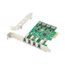 Digitus Karta rozszerzeń (Kontroler) USB 3.0 PCI Express 4xUSB 3.0 Low Profile Chipset VL805