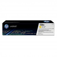 HP oryginalny toner CE312A, yellow, 1000s, 126A, HP LaserJet Pro CP1025, 1025nw, MFP M175