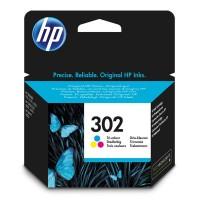 HP ink F6U65AE, No.302, color, 165 165 165s, 4ml, HP OJ 3830,3834,4650, DJ 2130,3630,1010, Envy 4520