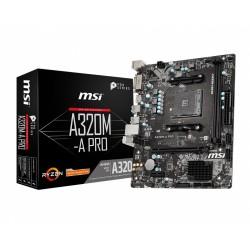 MSI Płyta główna A320MA PRO AM4 2DDR4 DVI|HDMI mATX