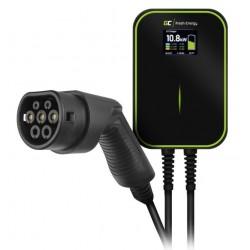 Green Cell Ładowarka Wallbox EV PowerBox 22kW z kablem Type 2 do ładowania samochodów elektrycznych i hybryd PlugIn