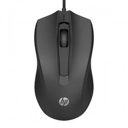 HP 1600DPI, optyczna, 3kl., 1 scroll, czarna, 1 szt