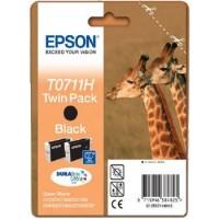 Epson Tusz T071 Czarny HY x2 Dwupack        T07114H10
