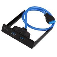 itec USB 3.0 extender na przedni panel 2 porty USB 3.0. typ A podłączenie do wewnętrznego złącza USB 3.0 przewód 45cm