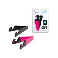 LogiLink Mini stojak pod tablet telefon  czarno|różowy
