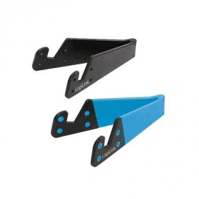 LogiLink Mini stojak pod tablet, telefon  niebiesko|czarny