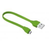 Trust UrbanRevolt Flat MicroUSB Cable 20cm  lime green
