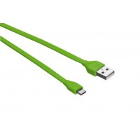 Trust UrbanRevolt Flat MicroUSB Cable 1m  lime green