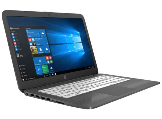 Laptop HP stream - zdjęcie boczne