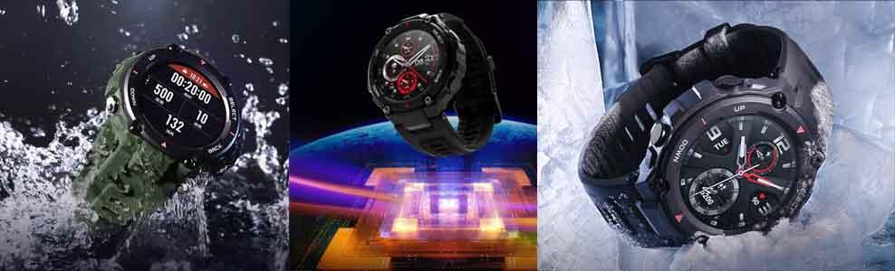 Zegarki Amazfit T-Rex - wpaniale się prezentują