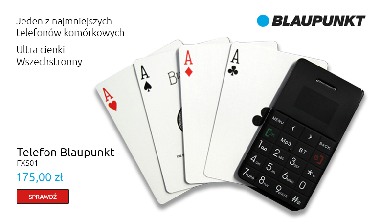 Telefon Blaupunkt FXS01 - czarny